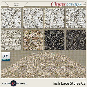 Irish Lace Styles 02 by Karen Schulz