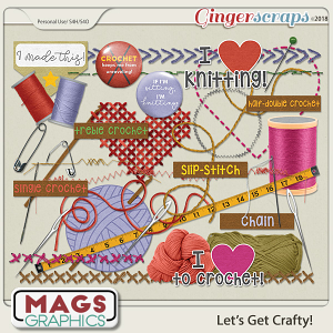 Let's Get Crafty YARN PACK by MagsGraphics