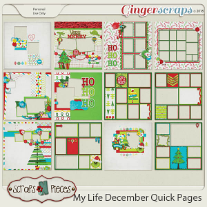 My Life - December Quick Pages by Scraps N Pieces