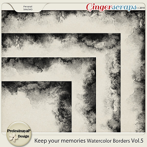 Keep your memories Watercolor Borders Vol.5