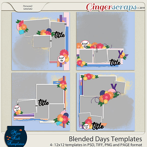 Blended Days  Templates by Miss Fish