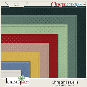 Christmas Bells Embossed Papers by Lindsay Jane