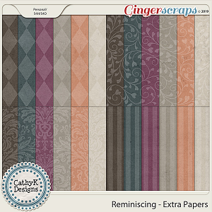 Reminiscing - Extra Papers by CathyK Designs