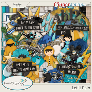 Let It Rain Page Kit