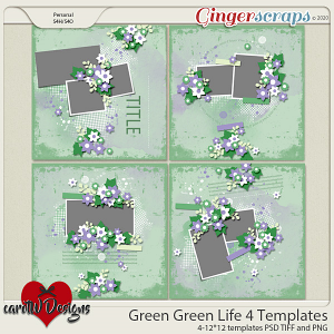 Green Green Life 4 Templates by CarolW Designs