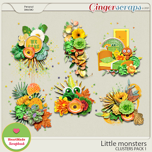 Little monsters - clusters pack 1