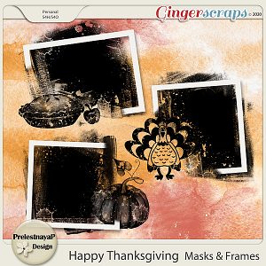 Happy Thanksgiving Masks & Frames
