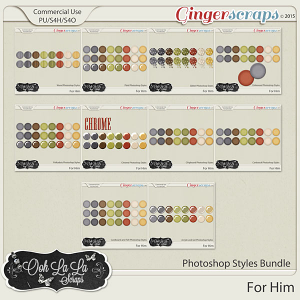 For Him CU Photoshop Styles Bundle