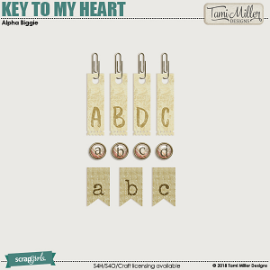 Key to my Heart Alpha Pack by Tami Miller Designs
