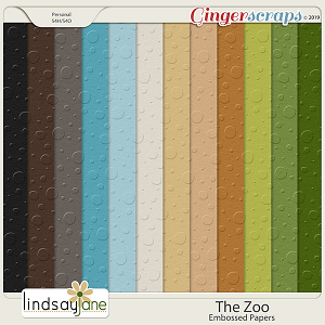 The Zoo Embossed Papers by Lindsay Jane