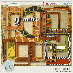 Circle Of Life Snapshot Frames by Ilonka's Designs