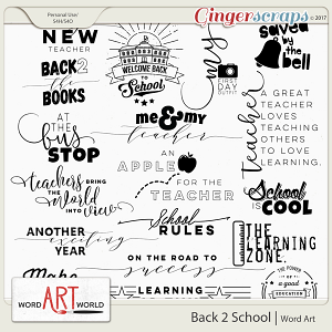 Back 2 School Word Art