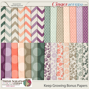 Keep Growing Bonus Papers by Trixie Scraps Designs