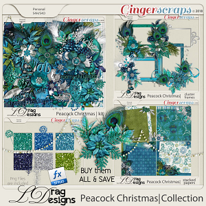 Peacock Christmas: The Collection by LDragDesigns