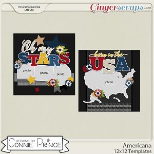 Americana  - 12x12 Templates (CU Ok) by Connie Prince