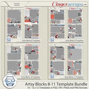 Artsy Blocks 8-11 Template Bundle by Miss Fish