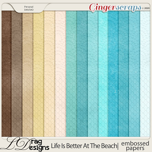 Life Is Better At The Beach: Embossed Papers by LDragDesigns