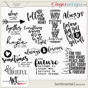 Sentimental Word Art