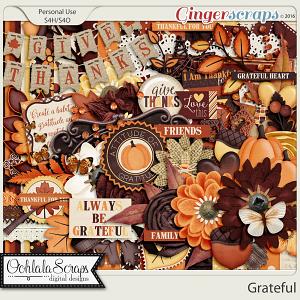 Grateful Digital Scrapbooking Kit