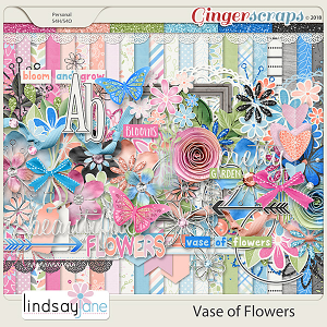 Vase of Flowers by Lindsay Jane