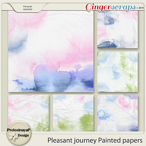 Pleasant journey Painted papers