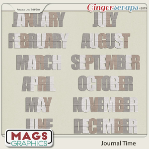 Journal Time MONTHS Title Pack by MagsGraphics