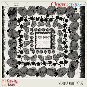 Succulent Love Page Borders