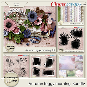 Autumn foggy morning Bundle