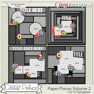 Paper Pieces Volume 2 - 12x12 Temps (CU Ok) by Connie Prince