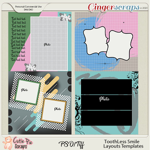 Toothless Smile - Layouts Templates 12x12 (CU Ok)