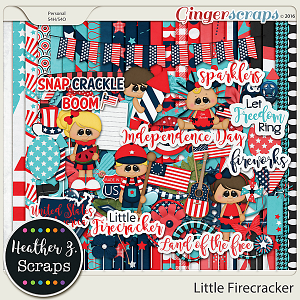 Little Firecracker KIT by Heather Z Scraps