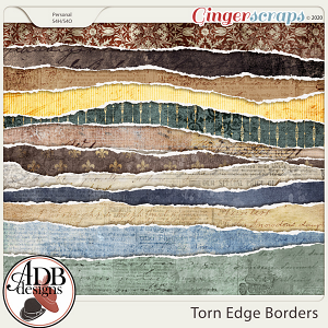 Heritage Resource - Torn Edge Borders by ADB Designs