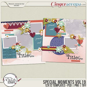 Special Moments- VOL.19 - Templates - by Neia Scraps