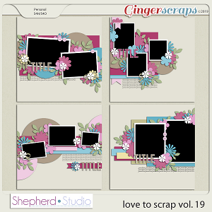 Love to Scrap Volume 19 Templates by Shepherd Studio