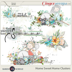 Home Sweet Home Clusters by Karen Schulz