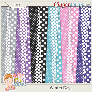 Winter Days Pattern Papers
