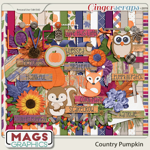 Country Pumpkin KIT by MagsGraphics