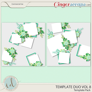Template Duo Vol 8 by Ilonka's Designs