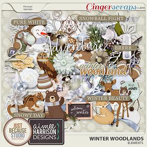 Winter Woodlands Elements by JB Studio & Aimee Harrison Designs