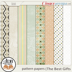 The Best Gifts Patterned Papers by ADB Designs