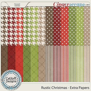 Rustic Christmas - Extra Papers