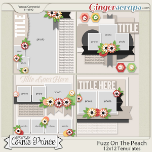 Fuzz On The Peach - 12x12 Templates (CU Ok)