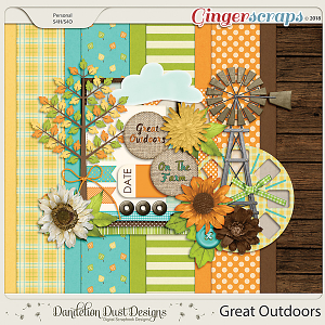 Great Outdoors Digital Scrapbook Kit By Dandelion Dust Designs
