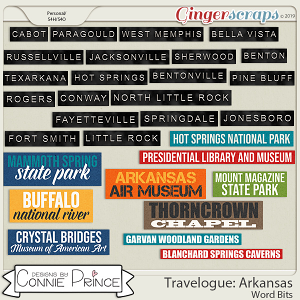 Travelogue Arkansas - Word Bits by Connie Prince