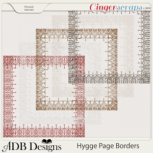 Hygge Page Borders by ADB Designs