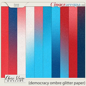 Democracy Ombre Glitter Papers by Chere Kaye Designs