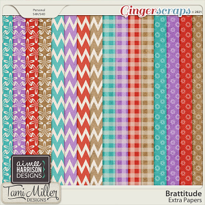 Brattitude Extra Papers by Aimee Harrison and Tami Miller