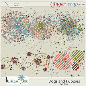 Dogs and Puppies Scatterz by Lindsay Jane