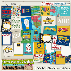Back to School Journal Cards by Clever Monkey Graphics
