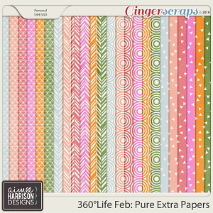 360°Life Feb: Pure Extra Papers by Aimee Harrison